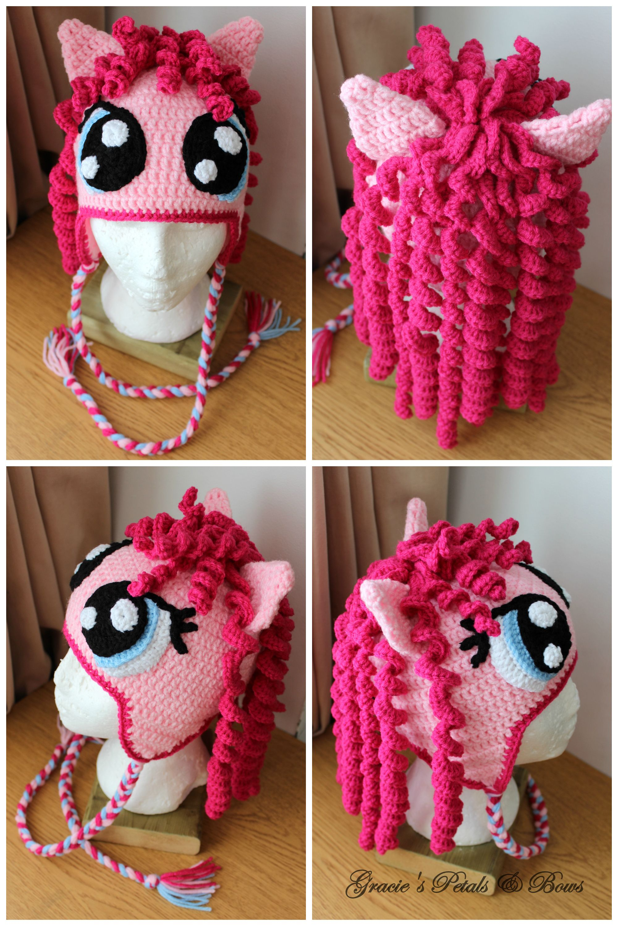 My little Pony Pinkie Pie inspired hat | Crochet Hats I make ...