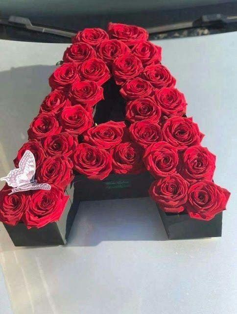 A Alphabet Letter Dp Pics Wallpaper For Whatsapp N Facebook Flower Box Gift Flowers Bouquet Gift Cute Love Wallpapers