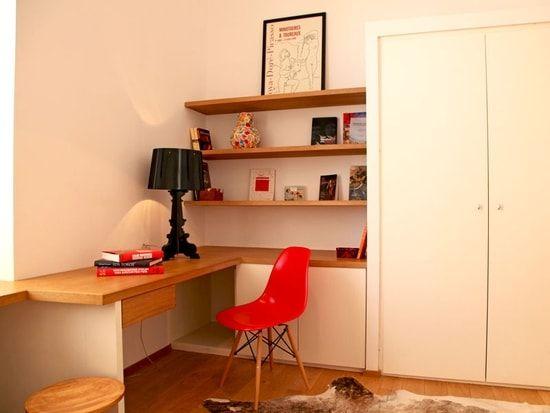 Une touche de rouge au bureau sweet home en bureau