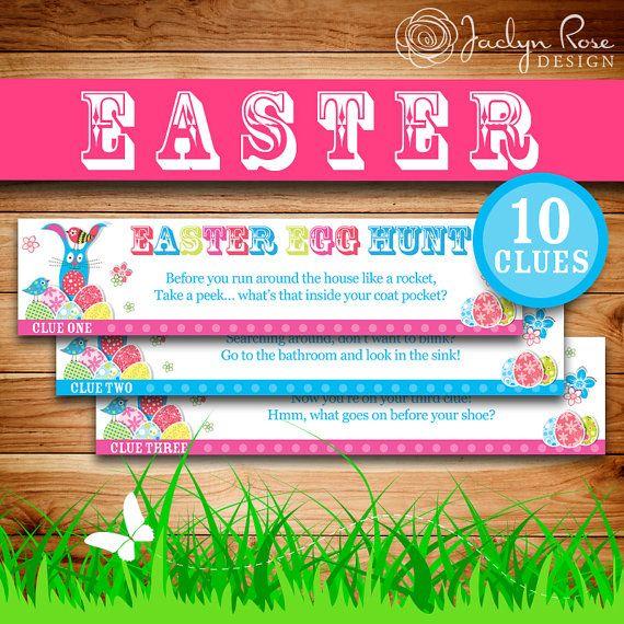 Printable easter egg hunt easter basket gift idea easter easter party printable easter egg hunt easter basket gift idea negle Gallery