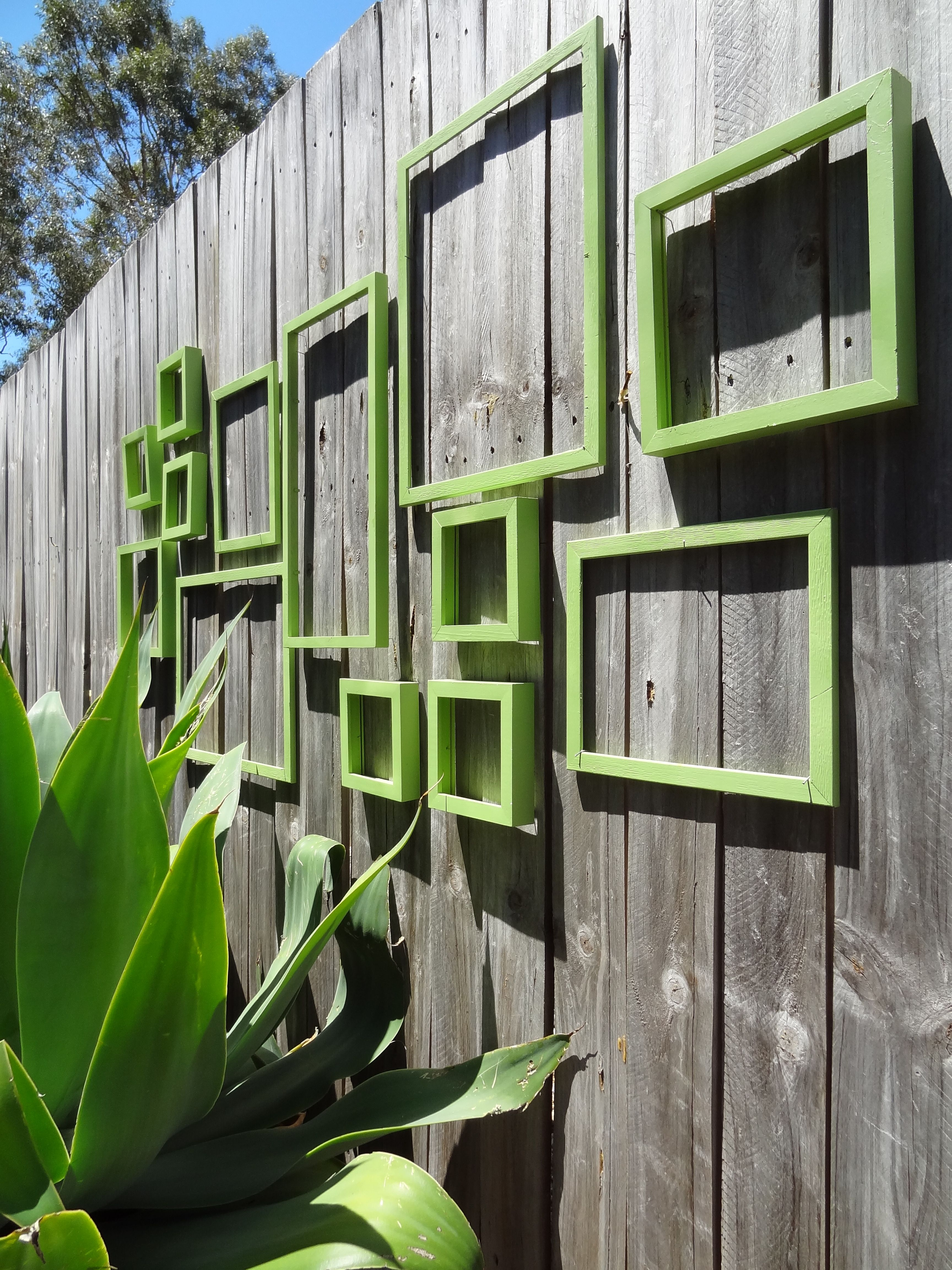 Outdoor Wall Art Frame Collage Diy Garden Fence Garden Wall Art Fence Art