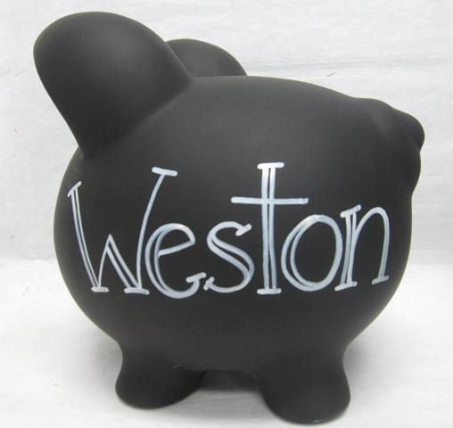 Personalized Piggy Bank Decorate Your Own Chalkboard To Be