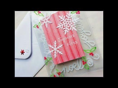 Scrapbooking tutoriels français   Carterie   4 Cartes de Noël avec