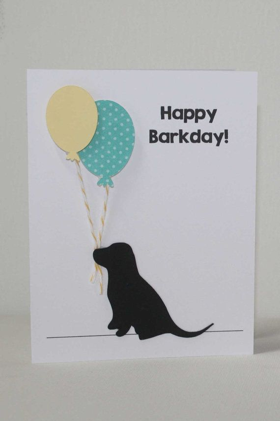 Dog Birthday Card Labrador Puppy Happy By JillyBearDesigns