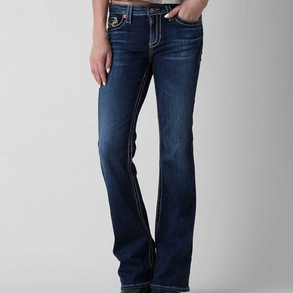cb5d88723d3 Tags On‼ Big Star Sophie Jeans Size 27 XL Distinctive stitching accents the  back pockets of faded boot-cut jeans with thick stitched accents.