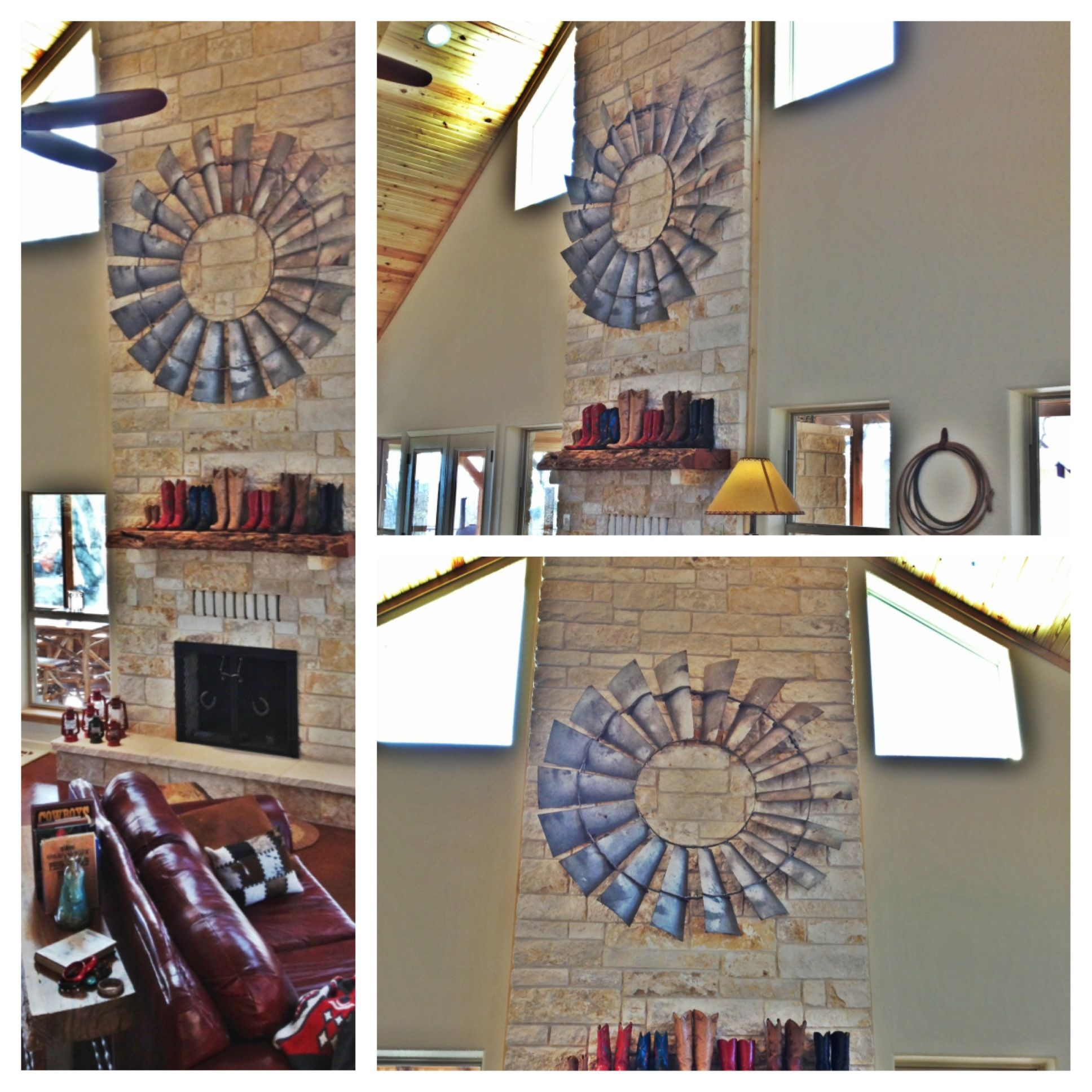 Awesome antique windmill blades as unique rustic decor for the awesome antique windmill blades as unique rustic decor amipublicfo Images