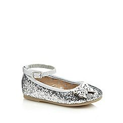 7523cc4d482 bluezoo - Girl s silver glitter butterfly pumps