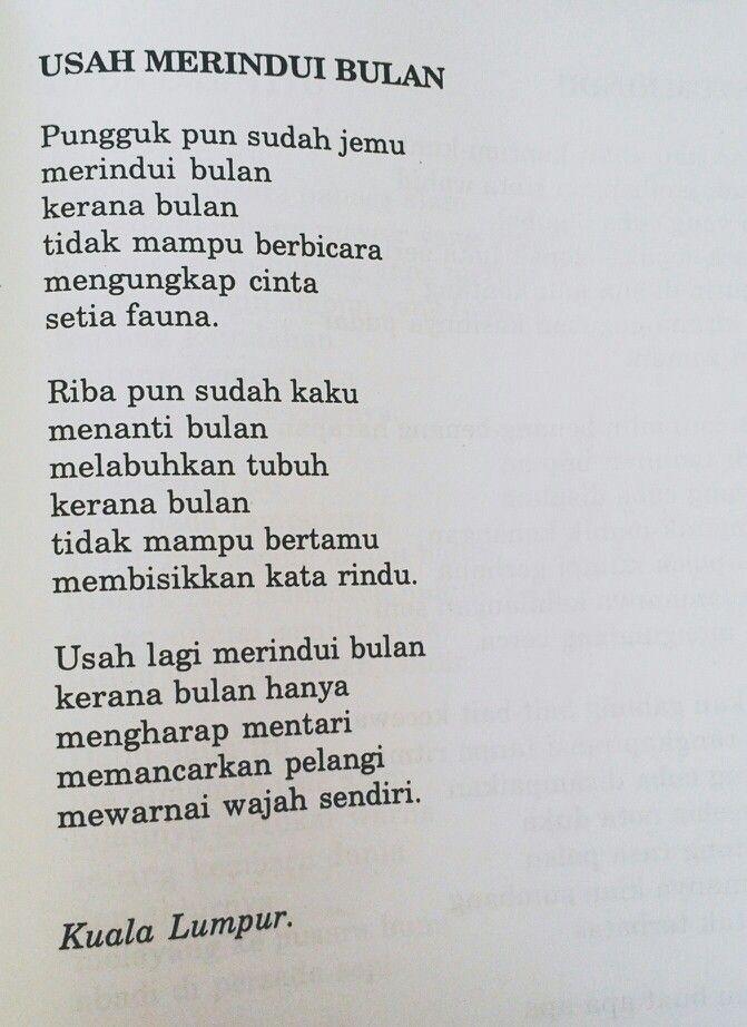 Buku Puisi Kami Kata Usah Lagi Merindui Bulan Kerana Bulan Hanya Mengharap Mentari Memancarkan Pelangi Mewarnai Wajah Sendiri Ms Sajak Ungkapan Puisi
