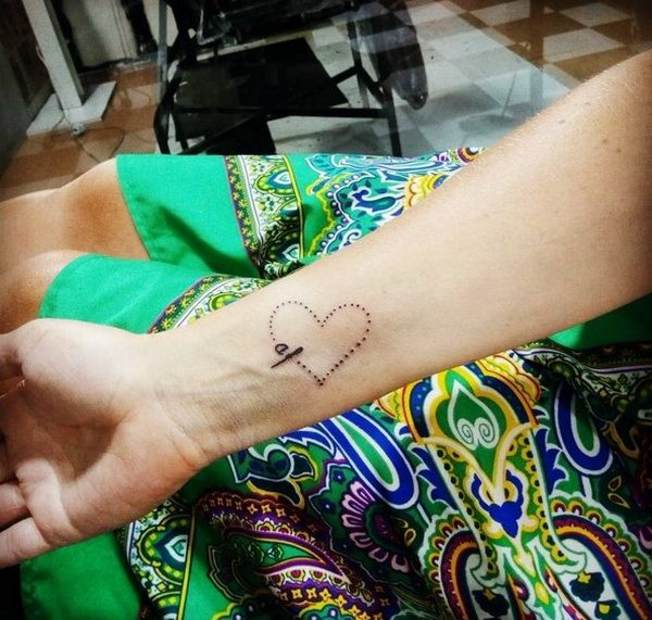 Simple Love Sign Hand Tattoo Design For Girls