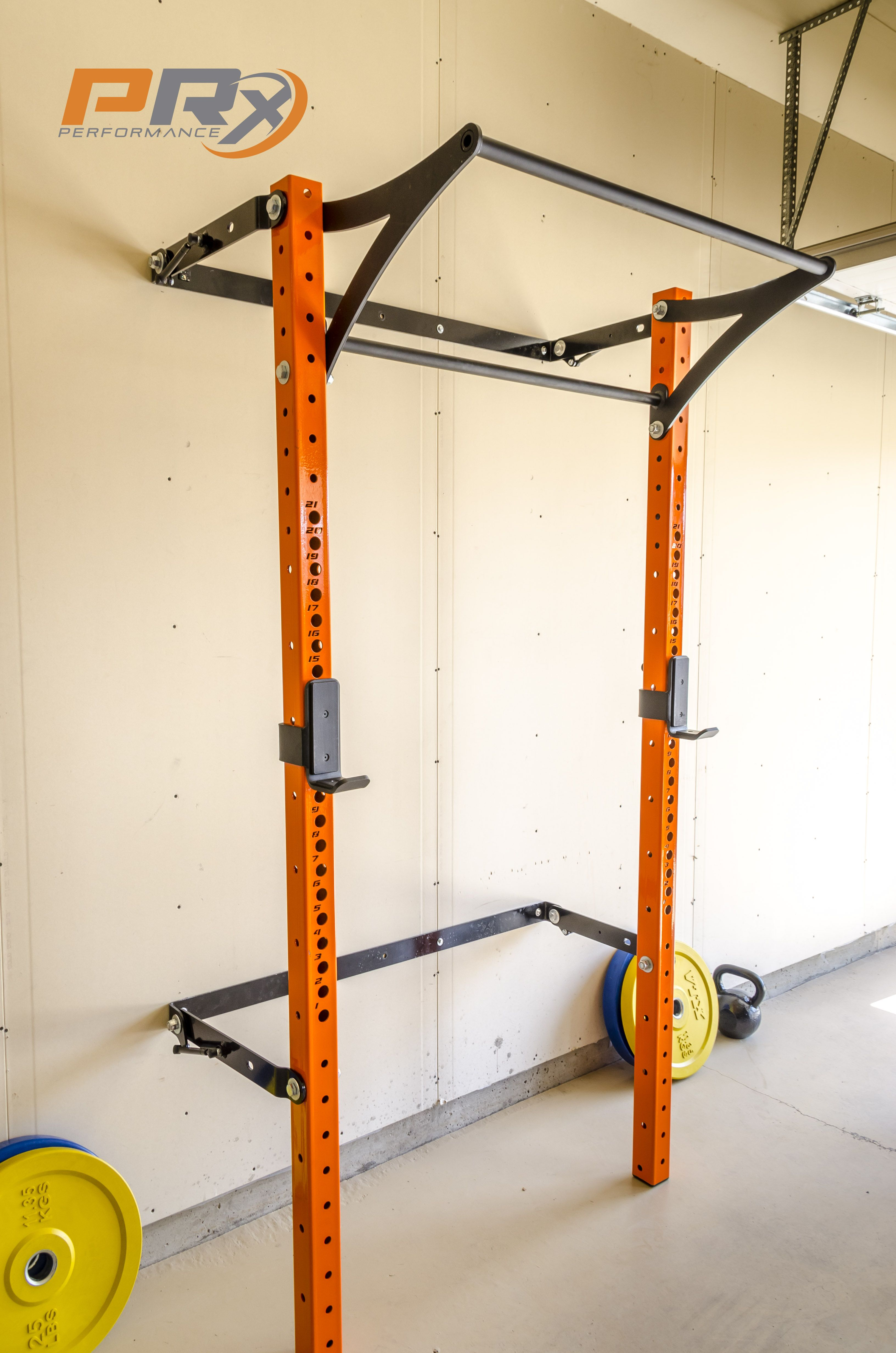 The space saving squat rack down and ready to do some work