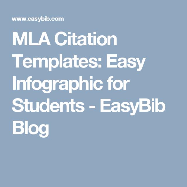 mla citation templates easy infographic for students easybib blog