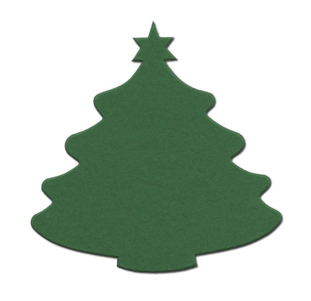 15 Die cut Medium Christmas tree crosscut