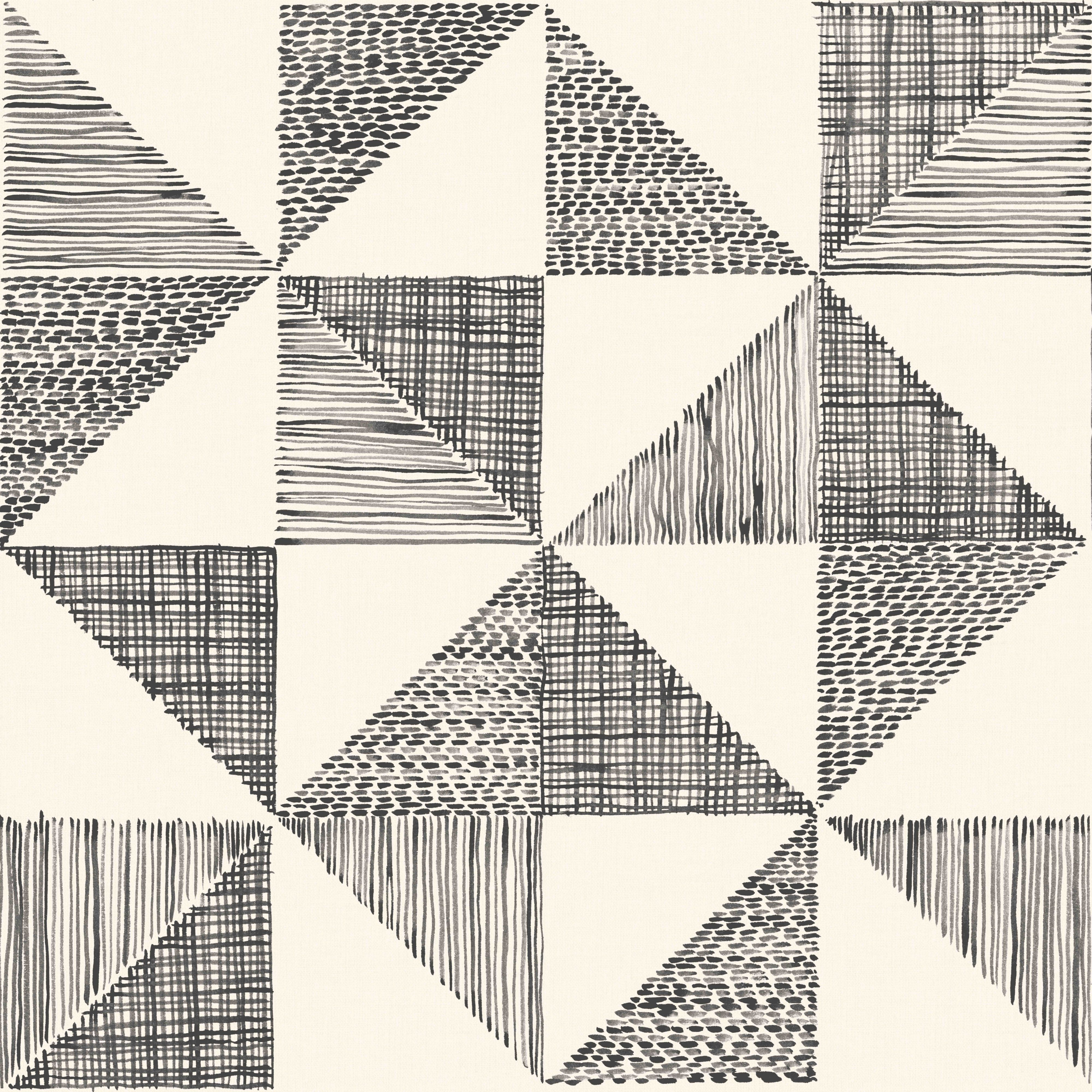 Colours Loki Black & White Geometric Wallpaper Geometric
