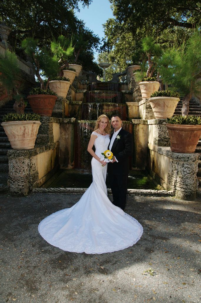 Vizcaya Waterfall In Miamiwhat A Place To Take Your Wedding Vows