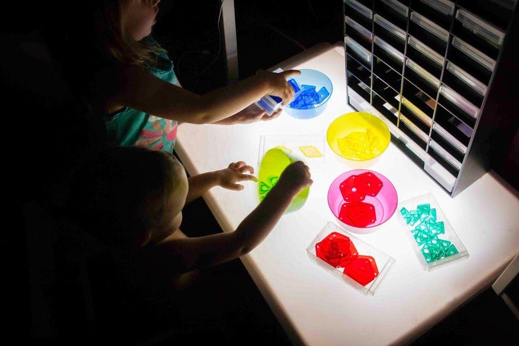 Nuestros materiales para la mesa de luz - Tigriteando