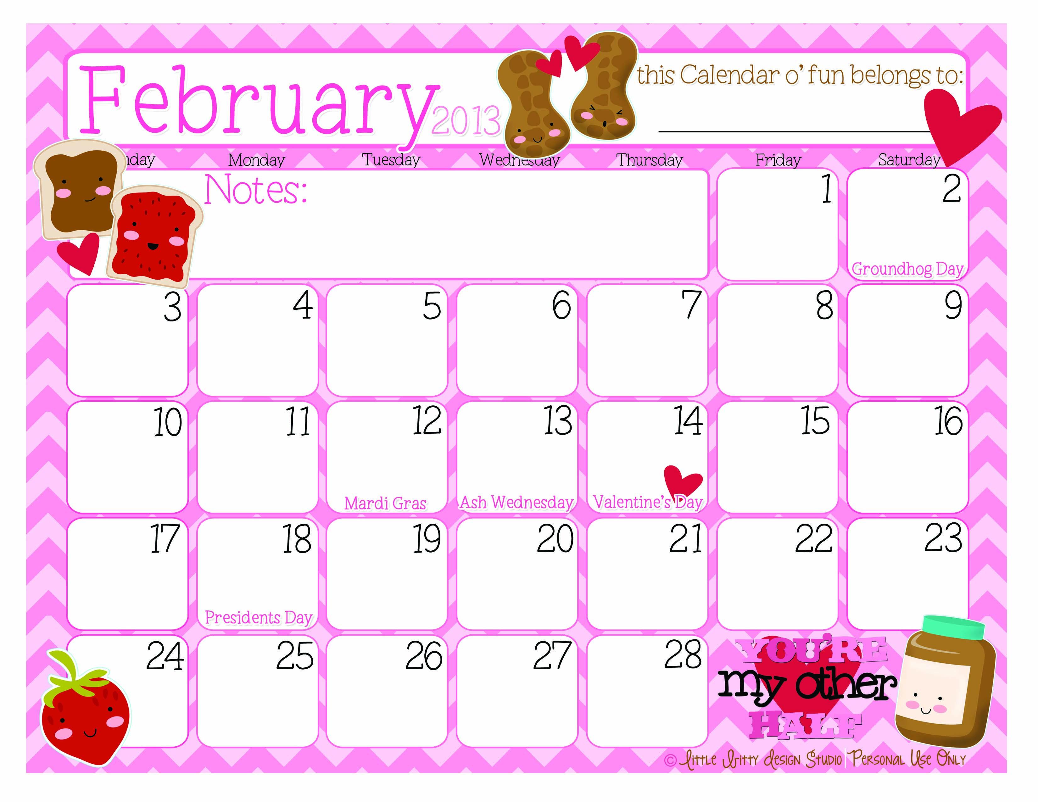Free Printable Calendars So Cute