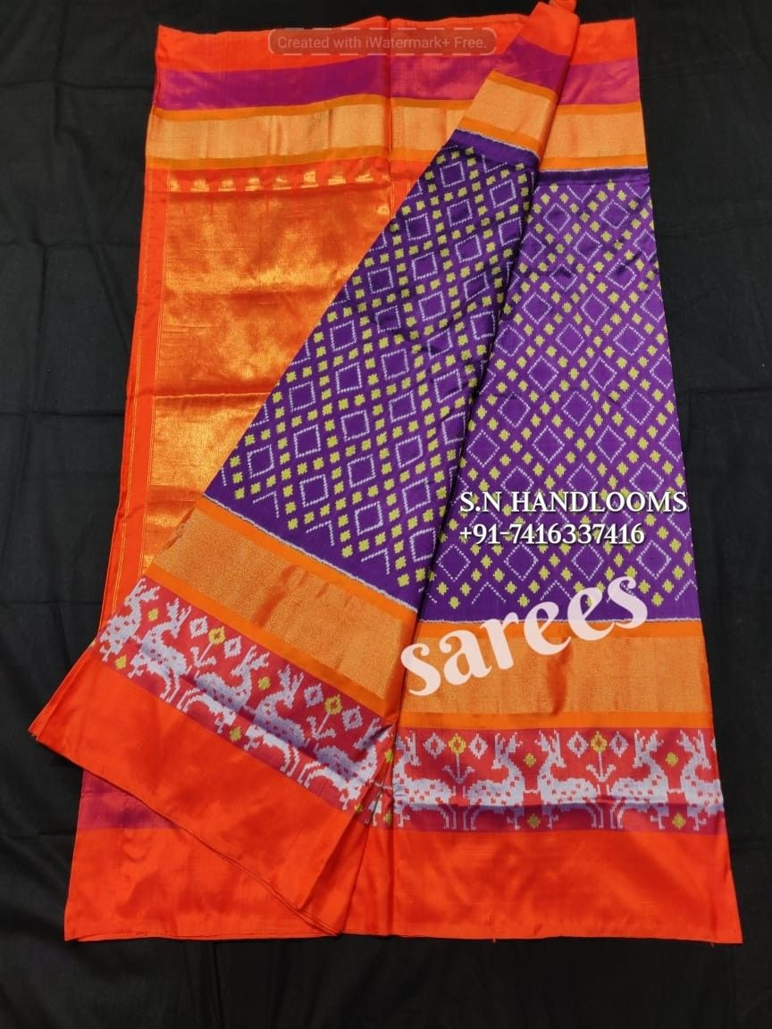 Pure silk saree 2018 exclusive collection of pochampally ikkat pure silk sarees for more