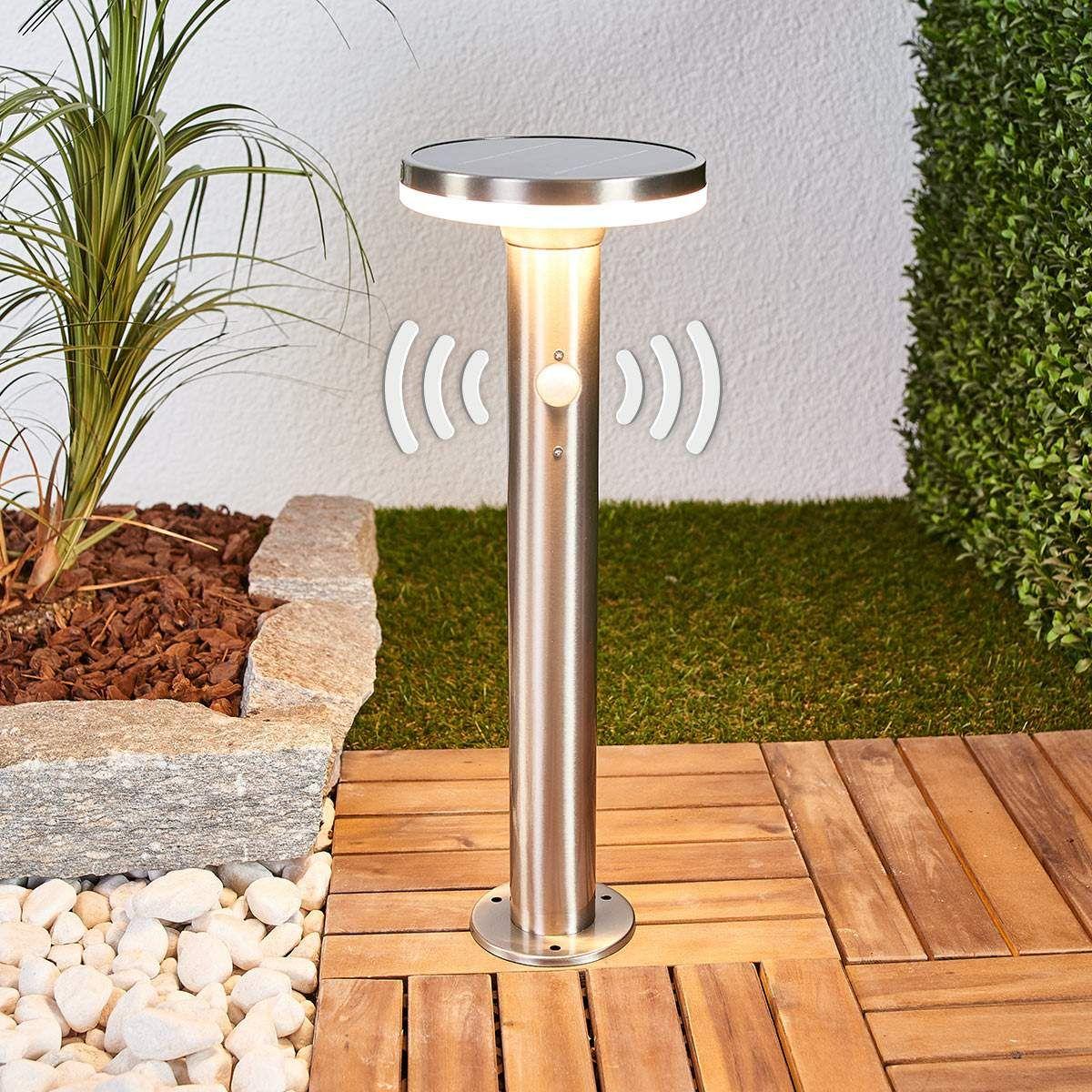 Solar Sockellampe Eliano mit Sensor und LEDs | Solarleuchten