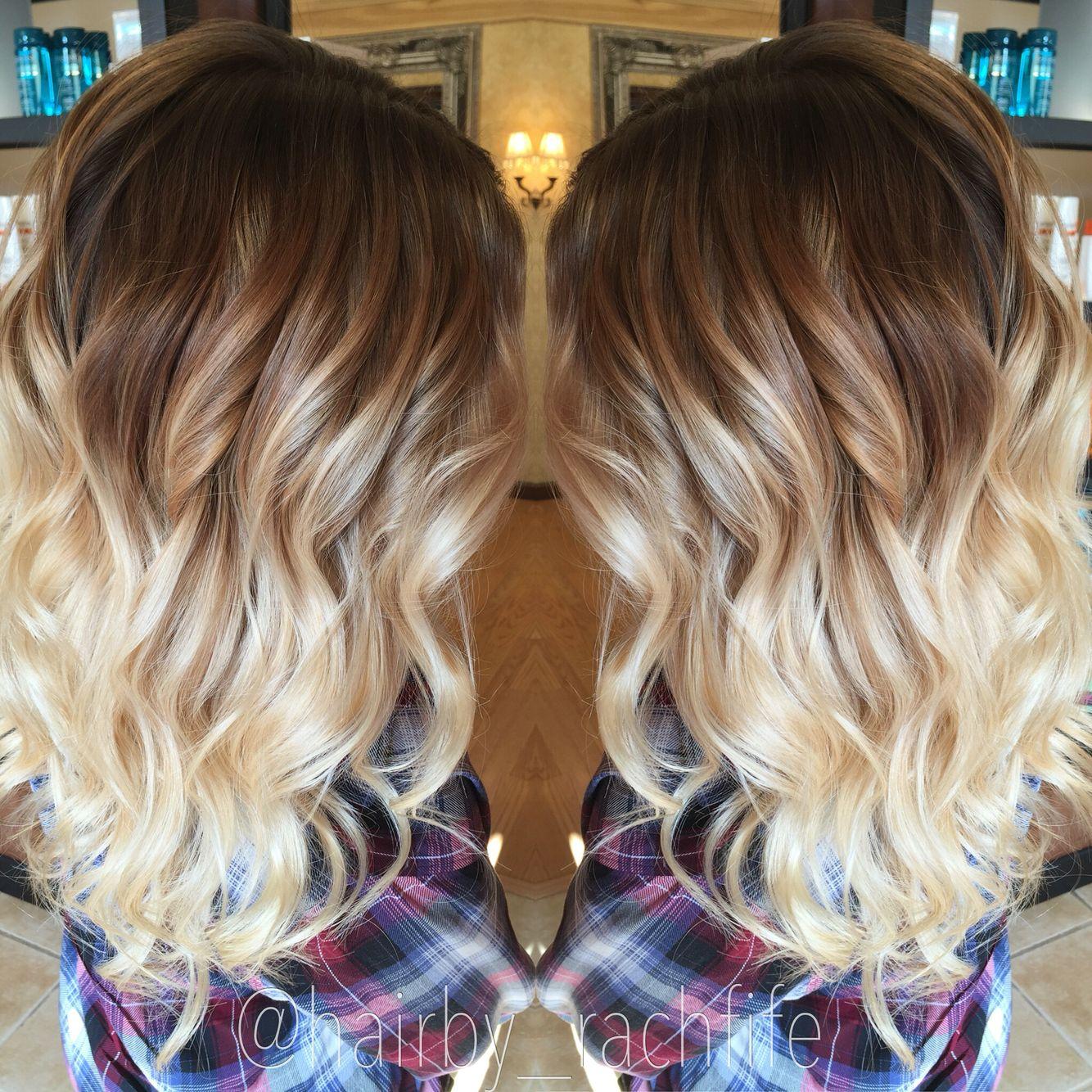 Custom color blonde colormelt ombre hair by rachel fife sf salon