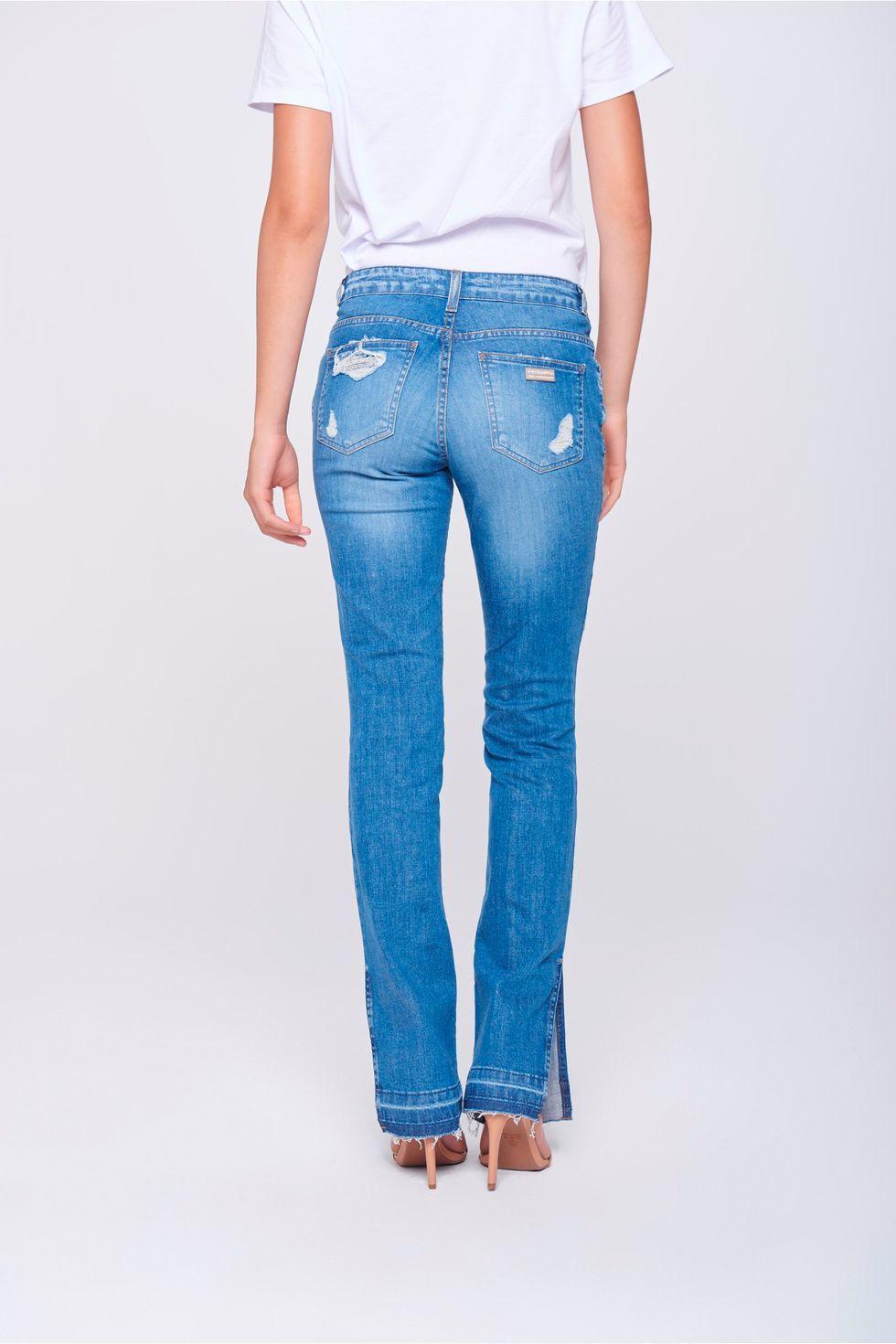 bbe1a79e6 Calça Jeans Reta Feminina - Damyller-smartphone