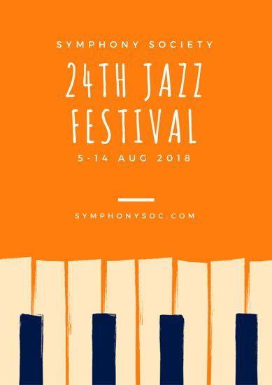 Jazz Festival Keyboard Concert Poster  Flyer  Poster