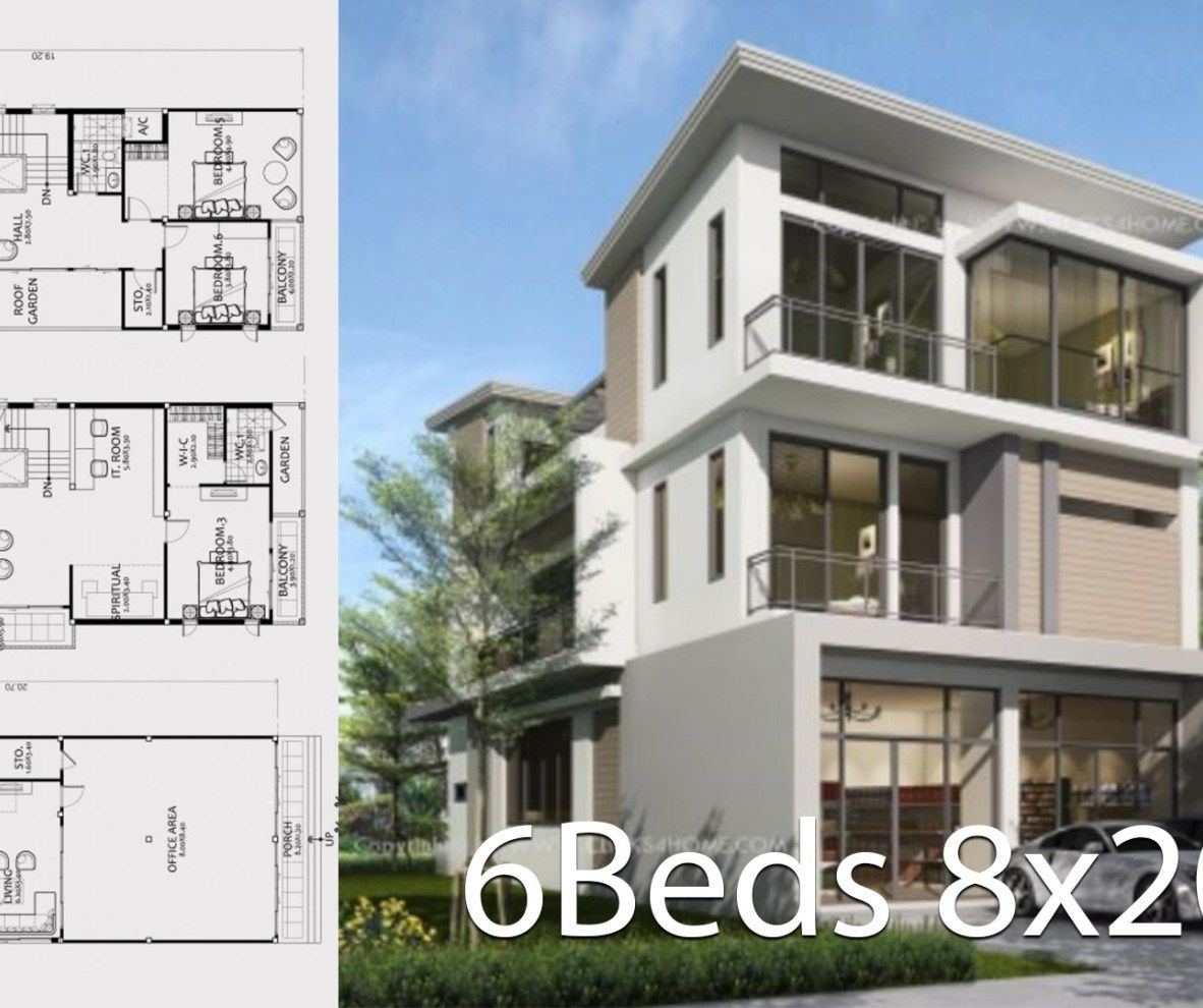 House Design Plan 7x10 5m With 4 Bedrooms Home Design With Plan Home Design Plan House Design Home Design Plans