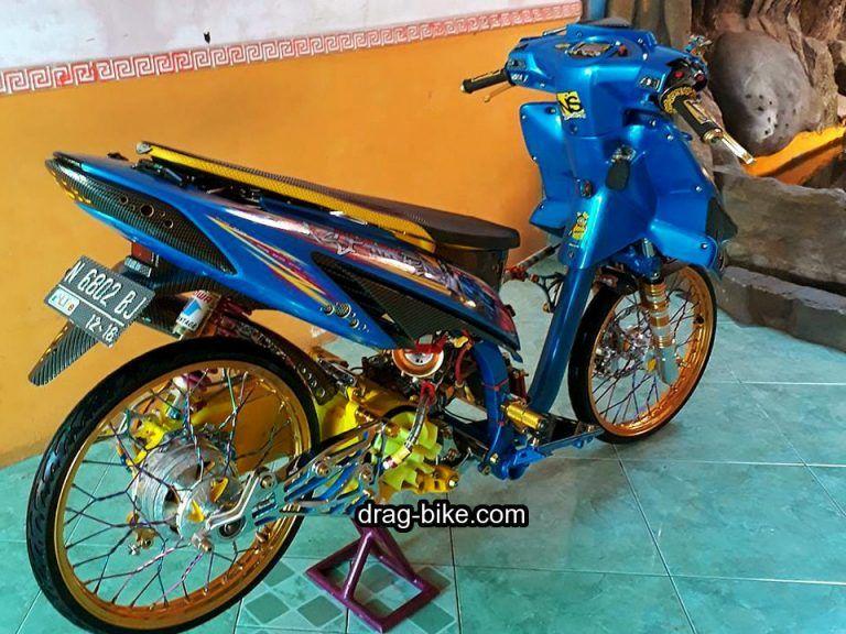 Modifikasi Motor Vario Lama Warna Biru Honda Biru Motor