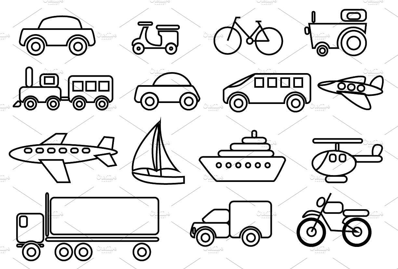 Transportation Vector Clip Art Set By Ameyraut On