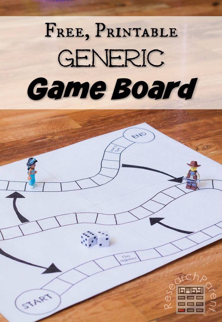 Generic Game Board Homemade Board Games Math Board Games Board Game Template