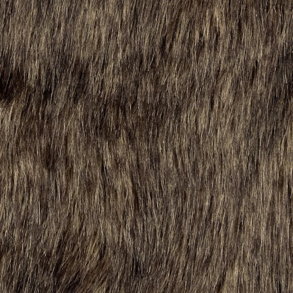 Faux Fur Wolf Brown Black From Fabricdotcom This Super