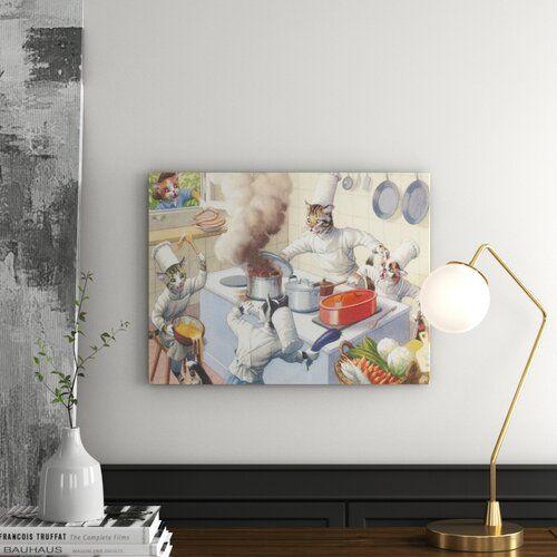 Photo of East Urban Home Mural Crazy Cat Chefs | Wayfair.de