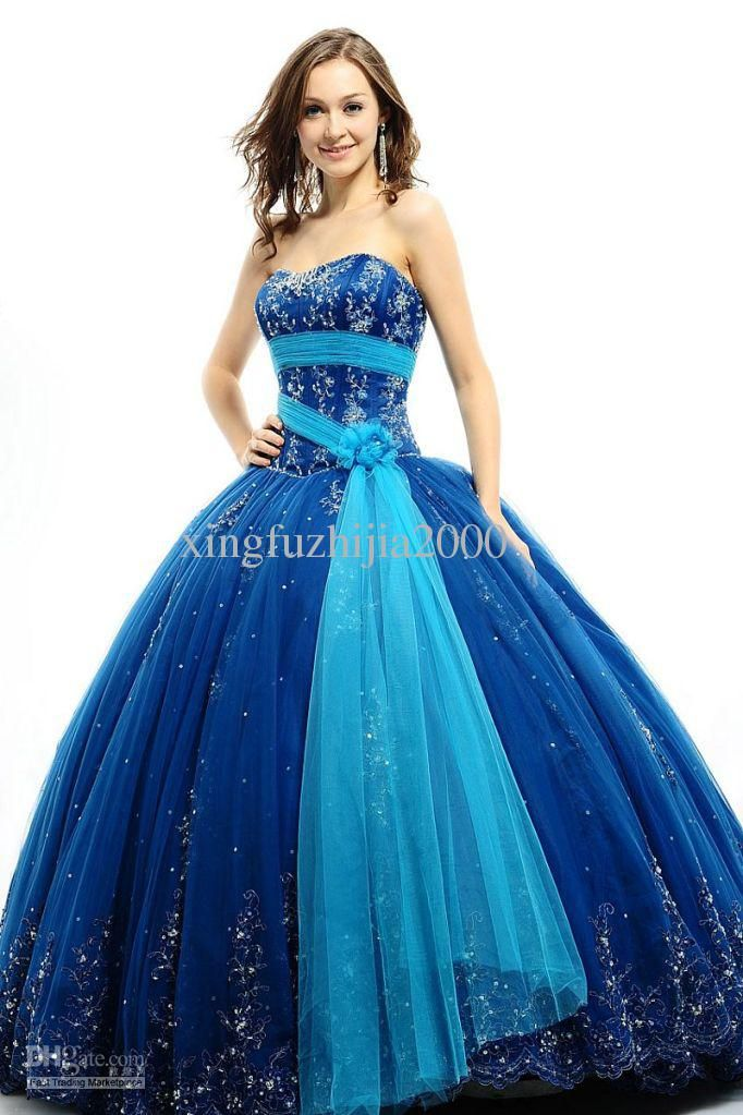 Gorgeous blue Bridal ball gown | Prom? | Pinterest | Gowns, Blue ...