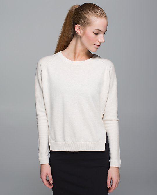 Bhakti Life Sweater - heathered white - size 6