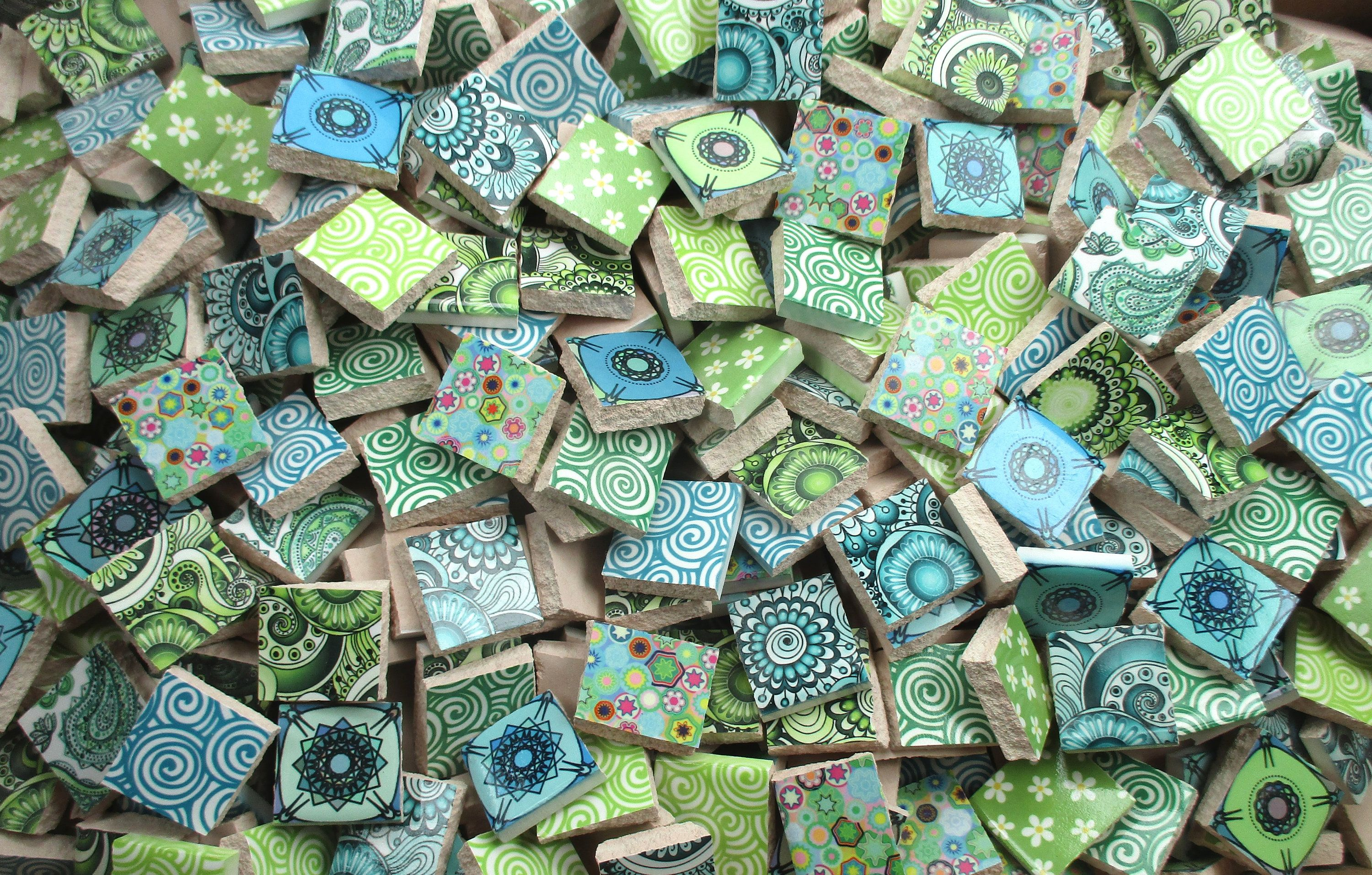 Bulk Mosaic Tiles 2 Pounds Mixed Cool Blue Green Designs Mixed Mosaic Tile Pieces Bulk Mosaic Tiles For Mosaic Art Made Ready To Ship With Images Mosaic Tiles
