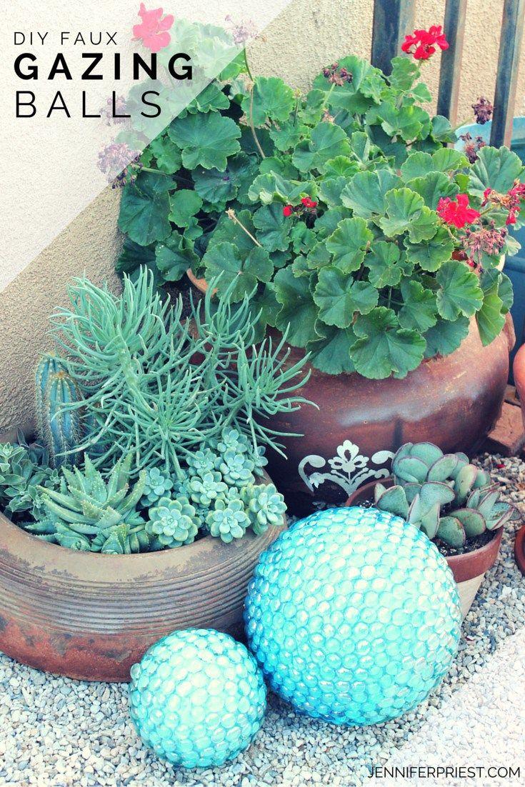Diy Faux Gazing Ball For The Garden Dollar Stores Glass Garden