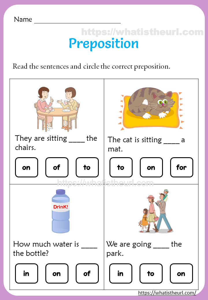 Preposition Worksheets for 1st Grade in 2020 Preposition