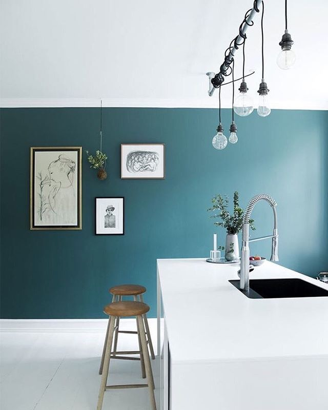 Love The Colour Used In This Little Kitchen From Osterbro