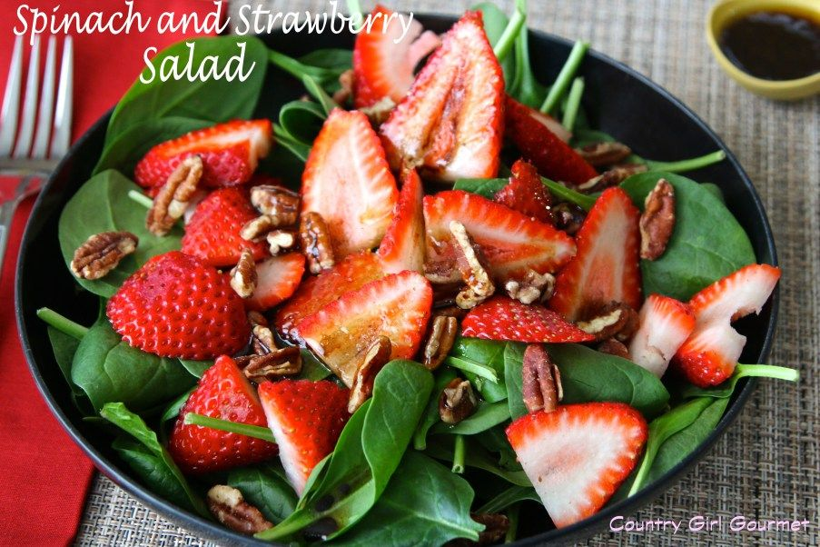Spinach and Strawberry Salad | Country Girl Gourmet