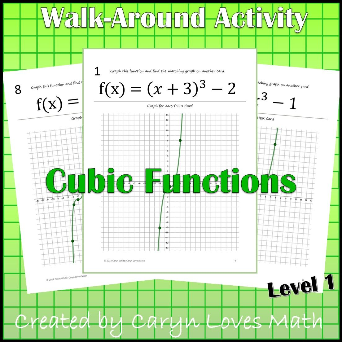 Graphing Cubic Functions Level 1 Graph By Shifting