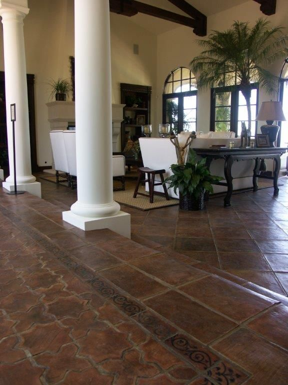 Terracotta Floor Tile Decorating Ideas Ts  Old World Terracotta Flooring   Adr  Spanish Style