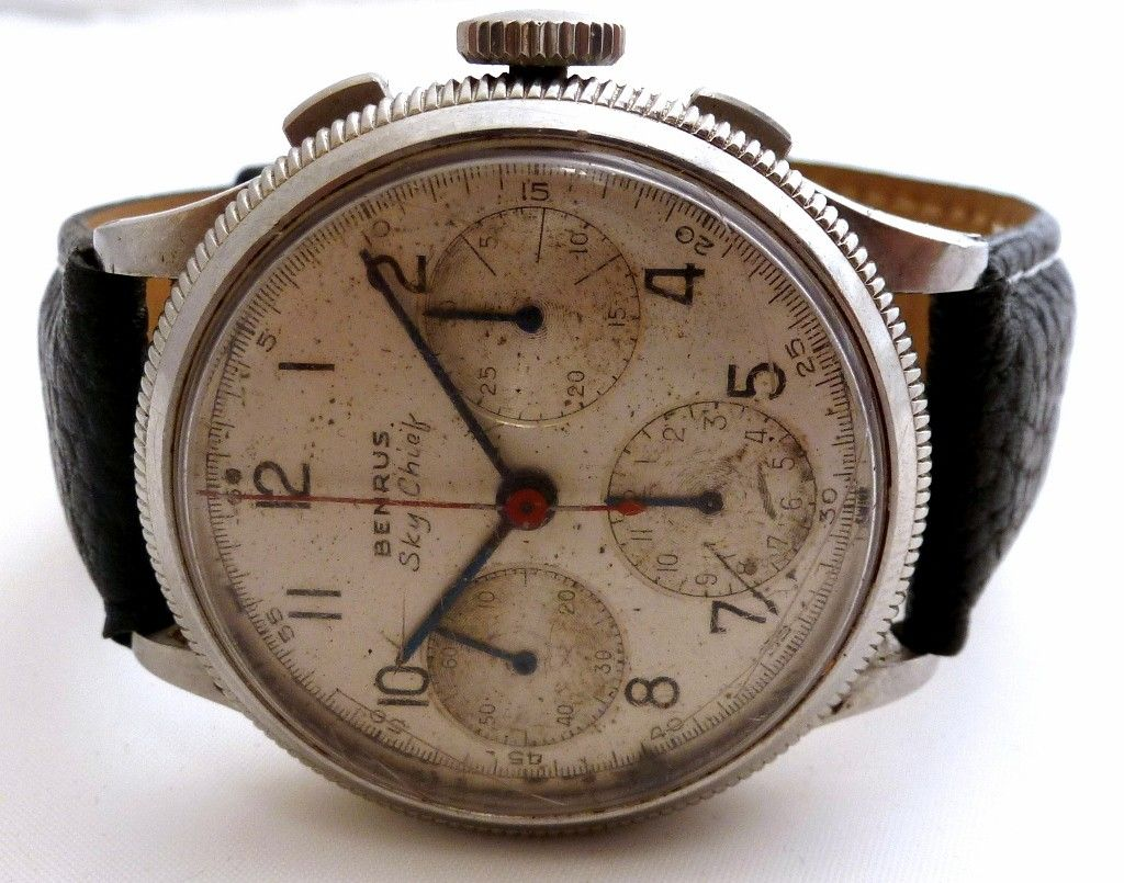 Vintage Benrus Sky Chief us Chronograph Mr Wolf Pinterest