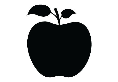 Apple silhouette. Vector free download clip