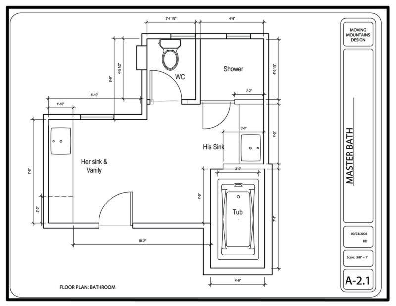 Hollywood hills master bathroom design project the design for Bathroom project plan