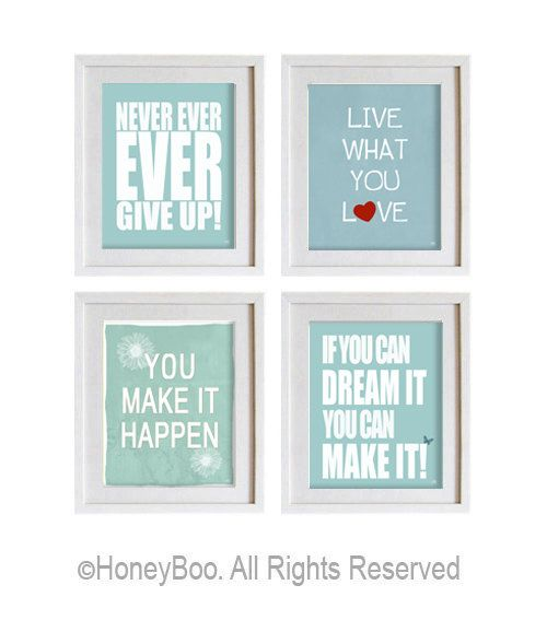 Motivational art prints inspiring wall art encouraging by HoneyBoo, $39.00
