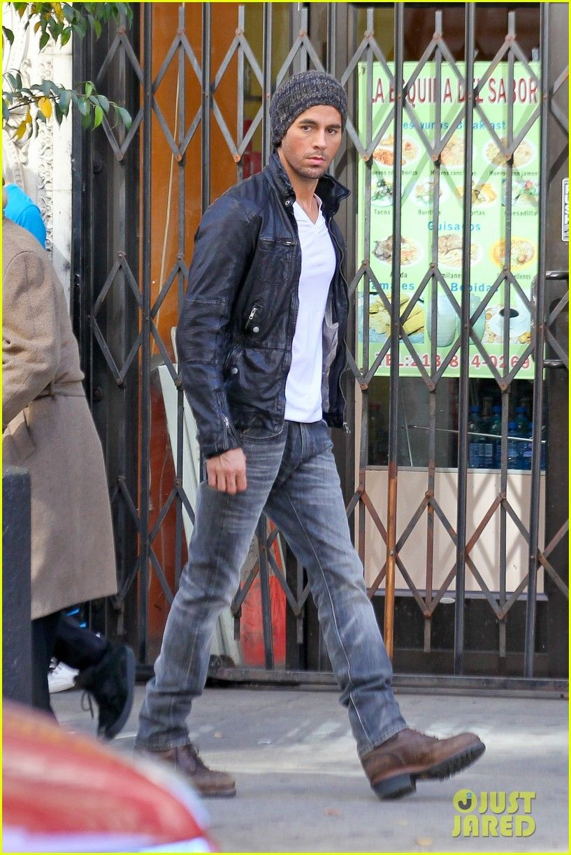 Enrique Iglesias: Leather Jacket Cool for 'Heart Attack ...