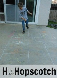 Letter of the Week H H is for hopscotch