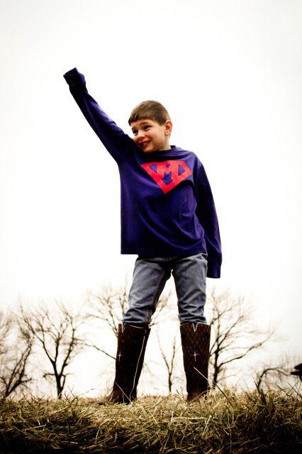 super boy initial shirt! Cute