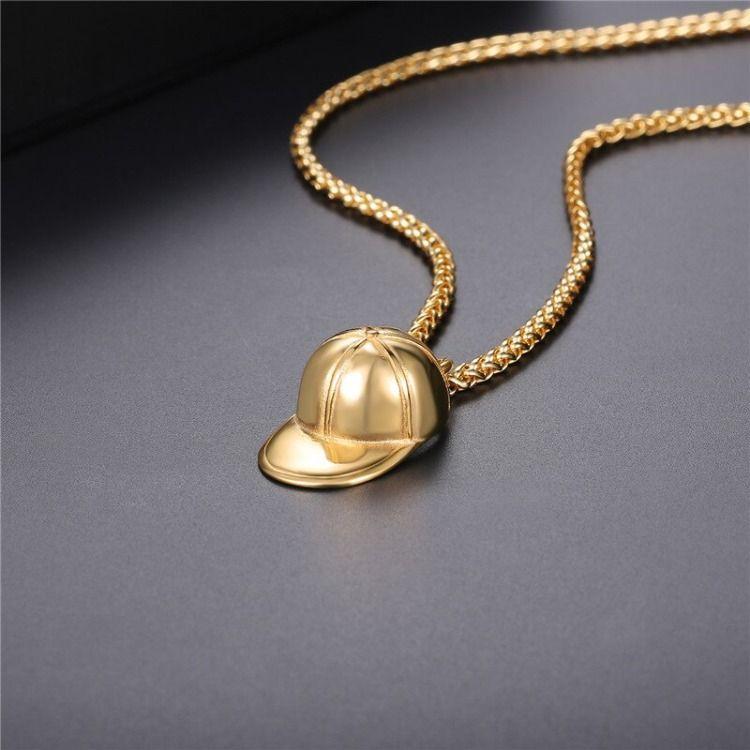 Baseball Cap Pendant Necklace Baseball Gift Baseball Fashion Accessories 18k Gold Plated Etsy In 2020 Baseball Jewelry Gifts For Baseball Players Baseball Pendant