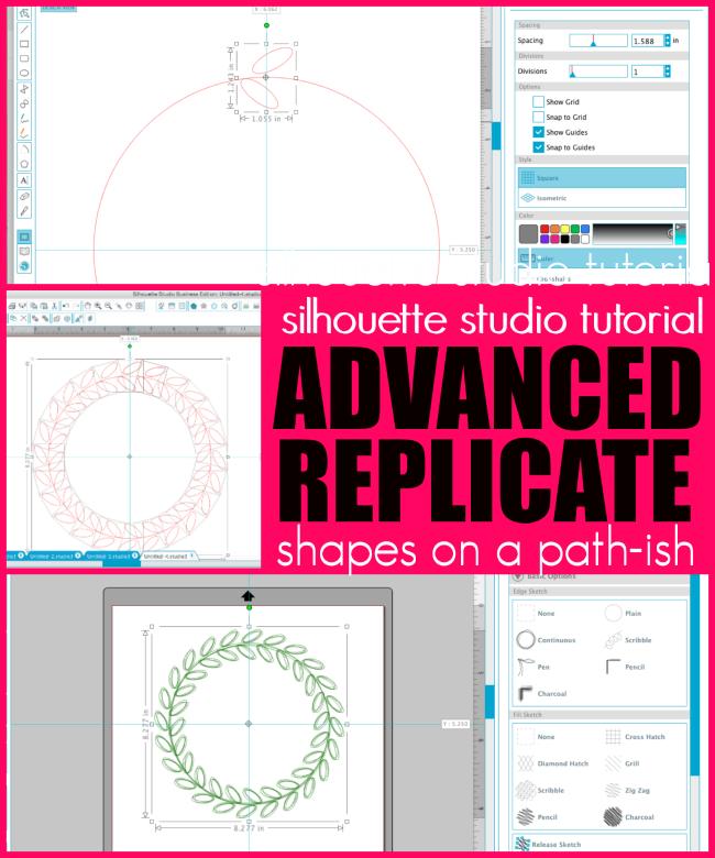 Silhouette Studio Advanced Replicate Tutorial for Putting