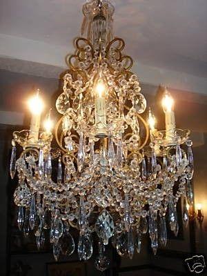 Gorgeous italian chandelier by janny dangerous light up for Innendekoration 1915